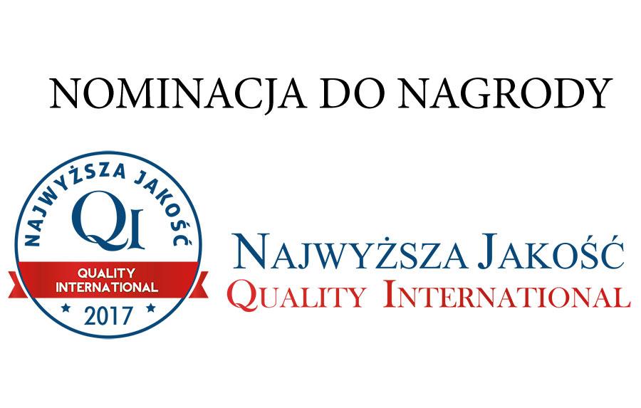 Nomination au titre de La Plus Haute Qualité Quality International 2017