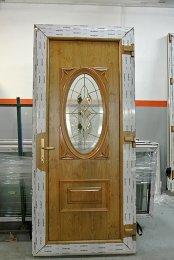 Porte d'entrée en PVC winchester 2 faces